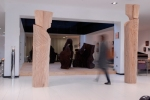 esculturas de Paulo Neves na loja da antarte na boavista